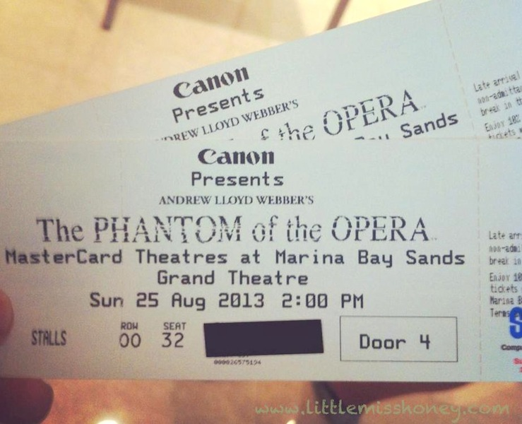 The Phantom of Opera Tickets