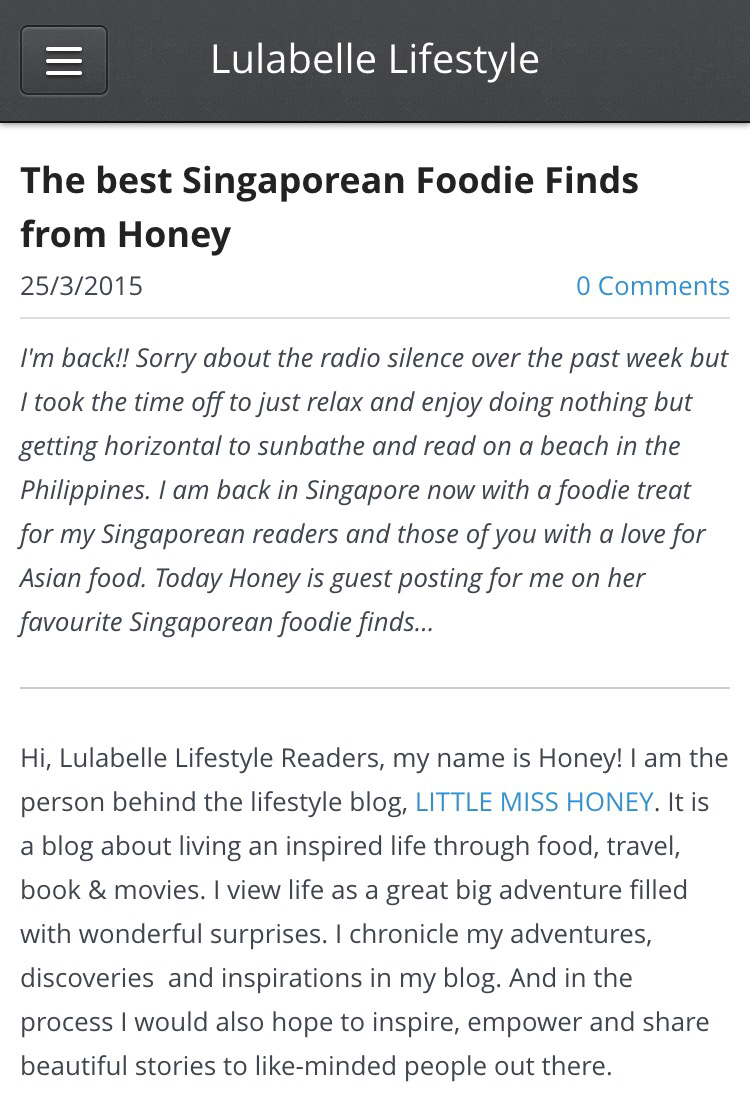 Singapore Foodie Finds