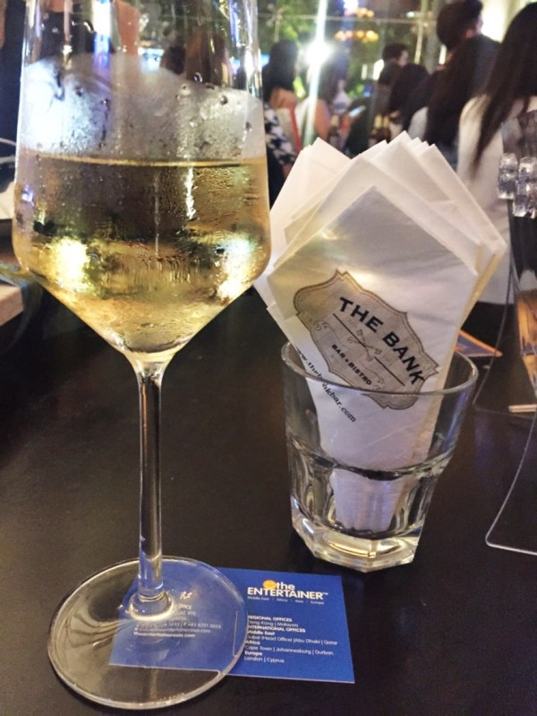 white wine & The Bank Bistro + Bar