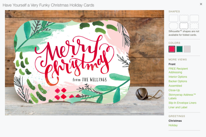 minted non-photo holiday card