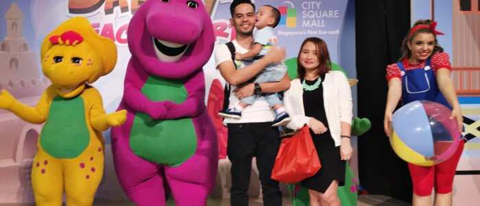 Barney in City Square Mall
