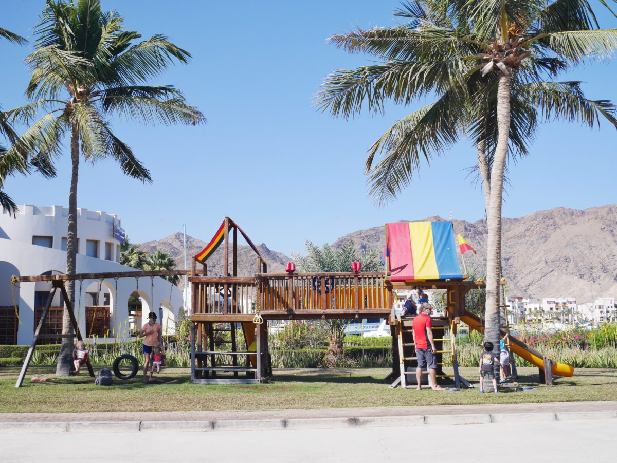 playground in Jebel Sifah